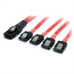 1m SAS-kabel - SFF-8087 till 4x SATA med lås
