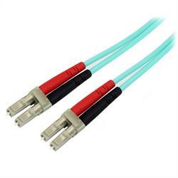 10 m 10 Gb Aqua multiläge 50/125 Duplex LSZH fiberpatchkabel LC - LC