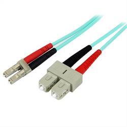 2m 10GB Aqua 50/125 Duplex LSZH multiläge fiberpatchkabel LC - SC