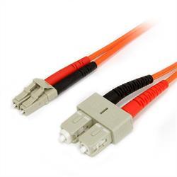 2 m 62,5/125 multiläges Duplex-fiberpatchkabel LC - SC