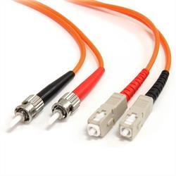 2 m 62,5/125 multiläges Duplex-fiberpatchkabel ST - SC