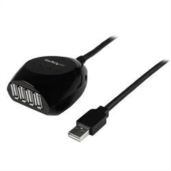 15m aktiv USB 2.0-kabel med hubb med 4 portar