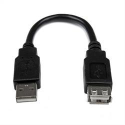15 cm USB 2.0-förlängningsadapterkabel A till A - M/F