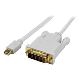 Aktiv konverteraradapterkabel för Mini DisplayPort till DVI på 91 cm – mDP till DVI 2560x1600 – Vit