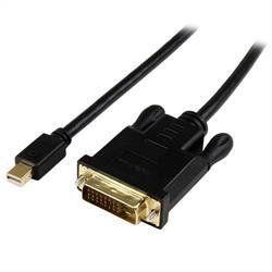 Aktiv konverteraradapterkabel Mini DisplayPort till DVI på 1,8 m – mDP till DVI 2560x1600 – Svart