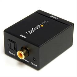 Digital koaxial SPDIF eller optisk Toslink till stereo RCA audio-konverterare