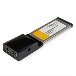 ExpressCard 1394b FireWire kortadapter med 2 portar för bärbara datorer