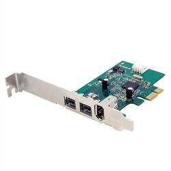 2b 1a 1394 PCI Express FireWire-kortadapter med 3 portar