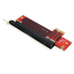 PCI Express X1 till X16 adapter för kortplatsutbyggnad i lågprofil