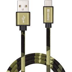 Sandberg USB-C Green Camouflage 1m