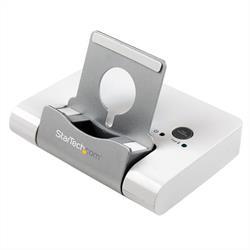 USB 3.0-hubb med 3 portar för bärbara datorer och Windowsbaserade surfplattor + snabbladdningsport och enhetshållare