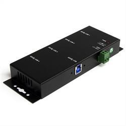 Industriell USB 3.0-hubb med 4 portar - monterbar