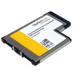 54 mm flush mount ExpressCard SuperSpeed USB 3.0-kortadapter med 2 portar