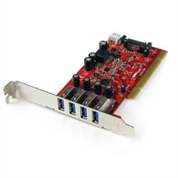 PCI-kortadapter med 4 USB 3.0-portar och SATA/SP4-ström