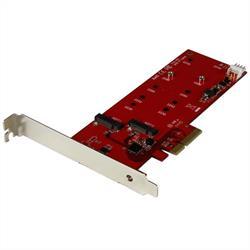 2x M.2 SSD-kontrollerkort - PCIe