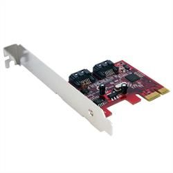 SATA 6 Gbps PCI Express SATA-kontrollerkort med 2 portar