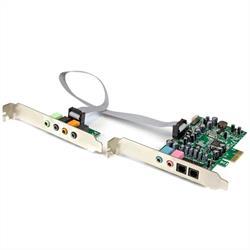 7.1 kanalers ljudkort - PCI Express, 24-bit, 192kHz