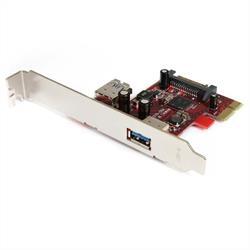 PCI Express SuperSpeed USB 3.0-kort med 2 portar och UASP-stöd - 1 Intern, 1 extern