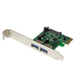 PCI Express (PCIe) SuperSpeed USB 3.0-kortadapter med 2 portar och UASP – SATA-ström