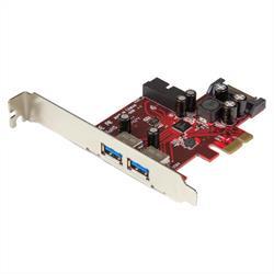 PCI Express USB 3.0-kort med 4 portar - 2 externa, 2 interna - SATA-ström