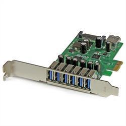 PCI Express USB 3.0-kort med 7 portar - standard- och lågprofilsdesign