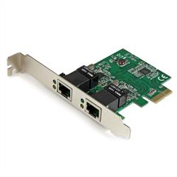 Gigabit PCI Express kortadapter med två portar för servernätverk - PCIe-nätverkskort