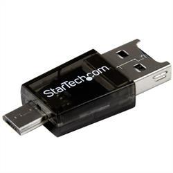 Micro SD till Micro USB / USB OTG-adapter-kortläsare för Android-enheter