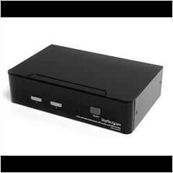 DVI USB KVM-switch med 2 portar, audio och USB 2.0-hubb
