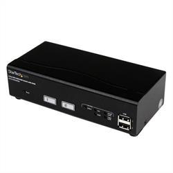 USB DVI KVM-switch med 2 portar och DDM Fast Switching-teknik och -kablar