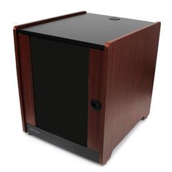12U serverskåp för kontorsserver med träyta och hjul
