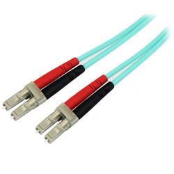 Aqua OM4 Duplex fiberoptisk kabel i multiläge - 100 Gb - 50/125 - LSZH - LC/LC - 3 m