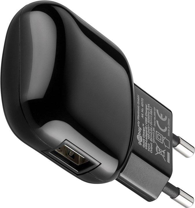 Goobay USB laddare QC3.0, laddar upp till 5A, svart Kopplat.se