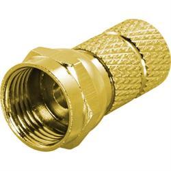 DELTACO F-kontakt, hane, 6,2mm