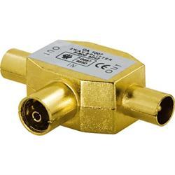 DELTACO antennförgrening, 9.5mm 1 ho till 2 ha