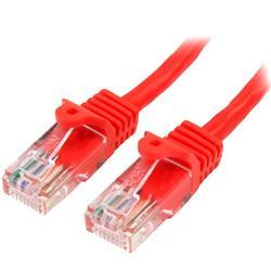 Cat5e Ethernet patchkabel med hakfria RJ45-kontakter - 10 m, Röd