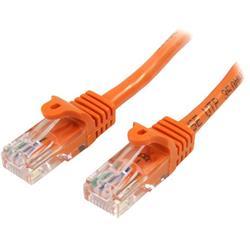 Cat5e Ethernet patchkabel med hakfria RJ45-kontakter - 7 m, Orange