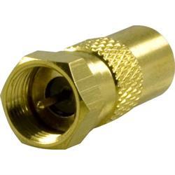 DELTACO adapter, F-kontakt hane till 9,5mm hane