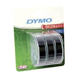 DYMO Präglingstape 9mm x 3m svart 3-pack