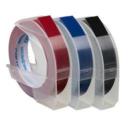 DYMO Präglingstape 9mm x 3m flerfärgat 3-pack