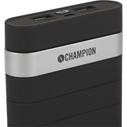 Powerbank Champion 10 000 mAh, 2.1 A, svart