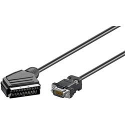 Adapterkabel SCART hane till VGA hane, 2 meter