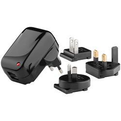 USB-reseladdare, 100-240V > 2 x USB, 2.0A