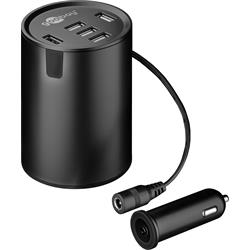 USB-laddare till bilen, 12-24V > 5xUSB, 2.4A (10A max)