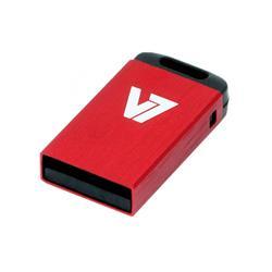 V7 USB 2.0-minne i nano-storlek, 16 GB röd