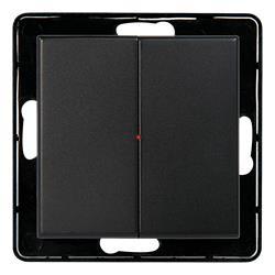 NEXA WTEB-2, 2-kanals väggsändare utan ram, svart