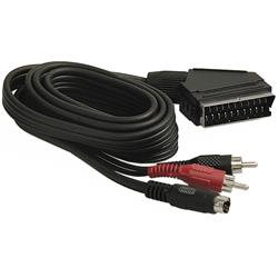 Videokabel, SCART till S-Video + ljud, DELTACO MM-40