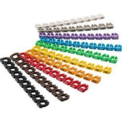 Kabelmärkning, 0-9 (10 x 10), för kablar upp till 6 mm