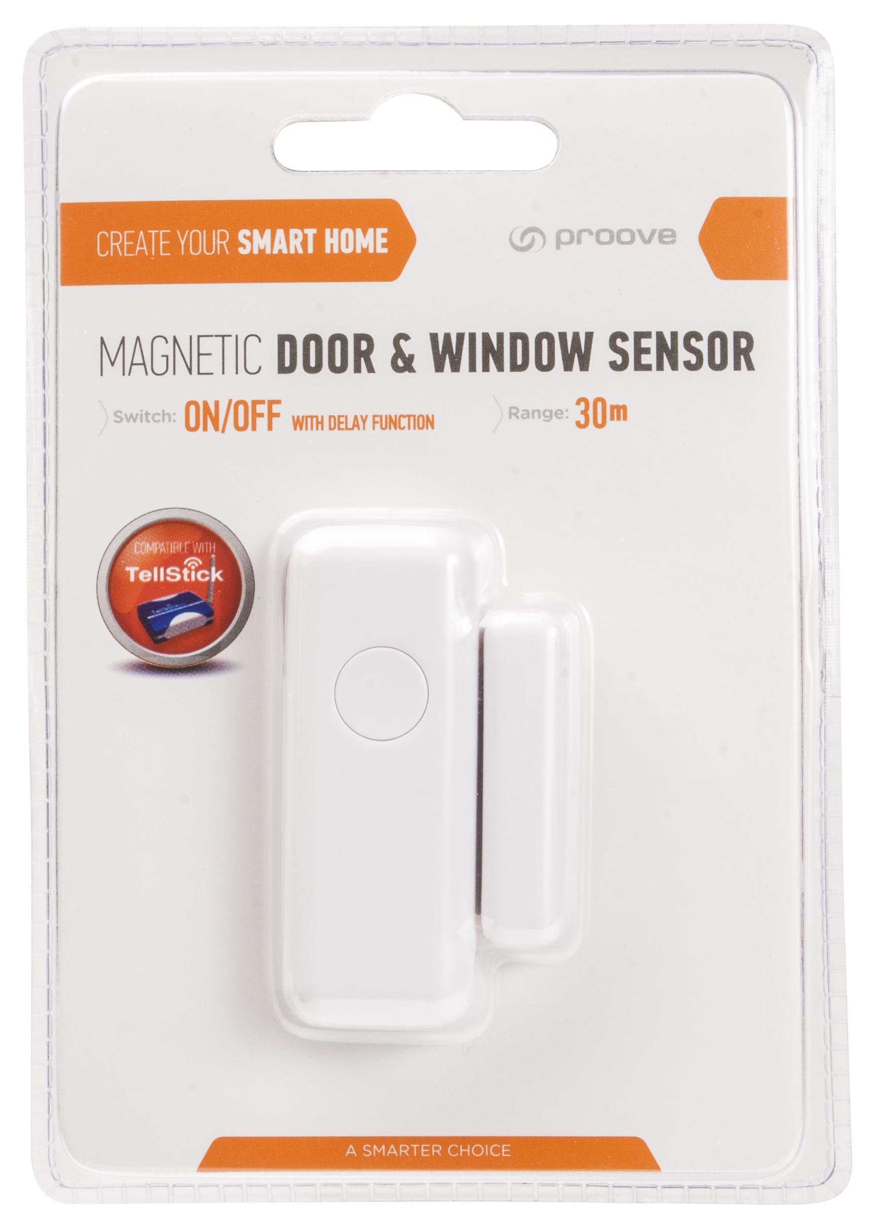 TELLDUS Dörrfönstersensor med timer, magnetbrytare