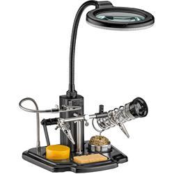 Lödhjälp, med LED-lampa och förstoringsglas