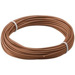 Kopplingstråd, flertrådig 0.14 mm<sup>2</sup>, 10 meter brun
